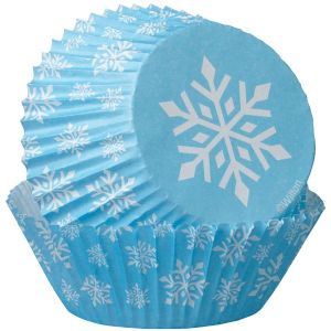 Blue Snowflake Baking Cups